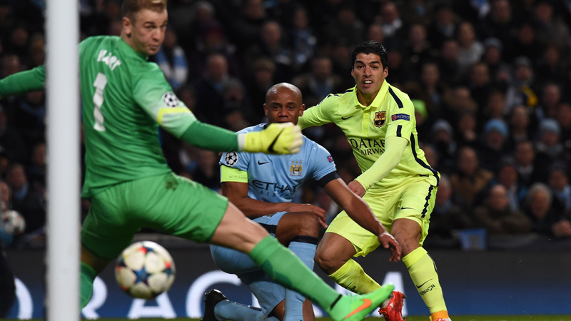 Suarez troeft Kompany af, Messi mist penalty (VIDEO)