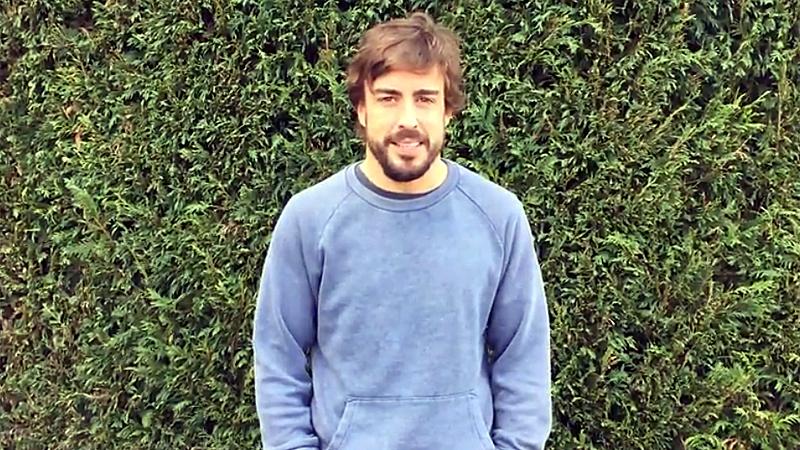 Alonso stelt fans gerust via videoboodschap