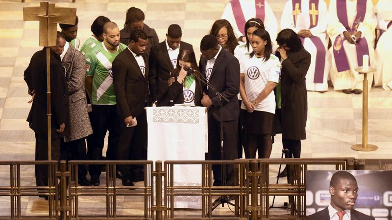 Les funérailles de Junior Malanda