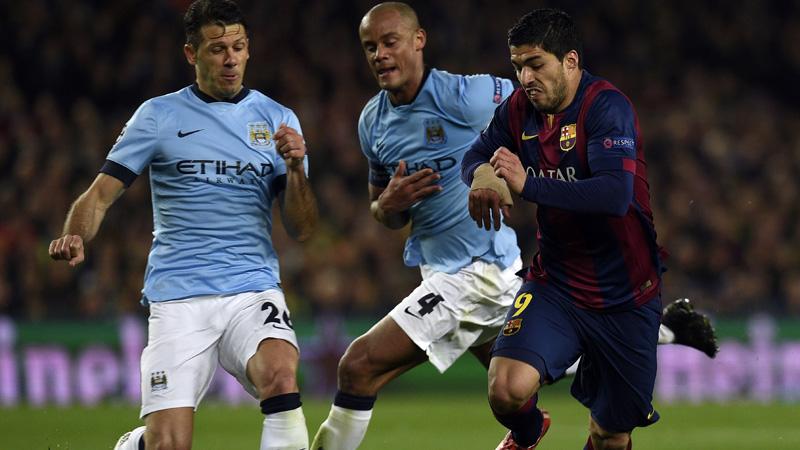 Kompany en co niet opgewassen tegen Barcelona (VIDEO)