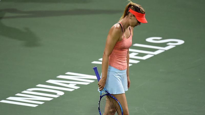 Sharapova en Bouchard out in Indian Wells (VIDEO)