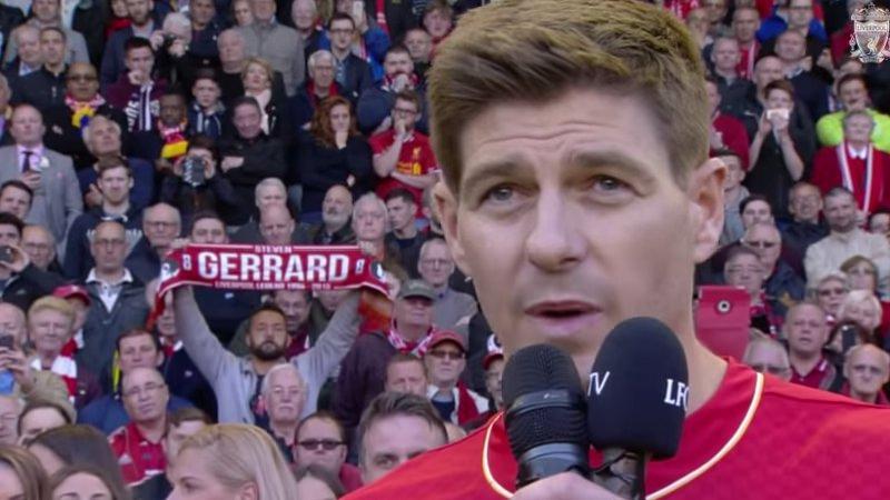 Afscheid Steven Gerrard (VIDEO)