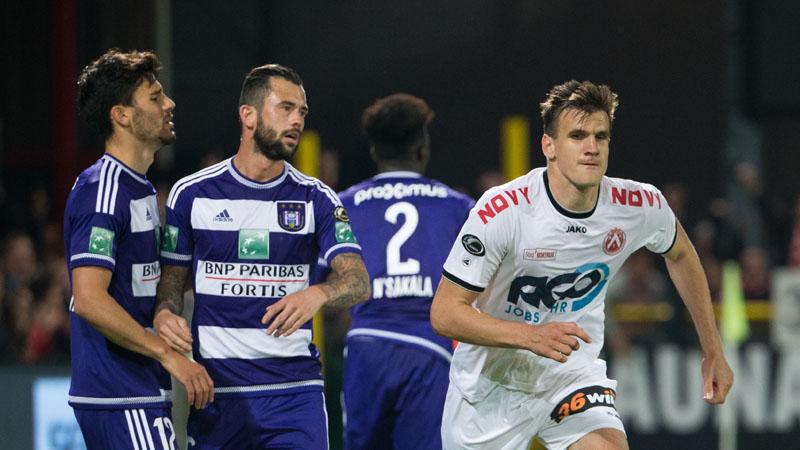Anderlecht verliest de tweede plek in Kortrijk