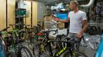 De indrukwekkende fietsgarage van Sven Nys