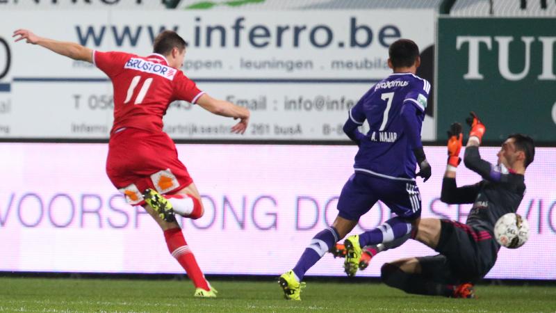 Kortrijkse muur houdt stand tegen Anderlecht