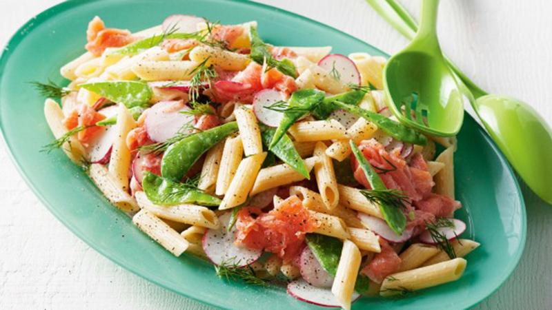 Simpele, lekkere herstelmaaltijd: pasta met gerookte zalm