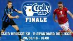 Club Brugge en Standard strijden op zondag 20 maart om Croky Cup