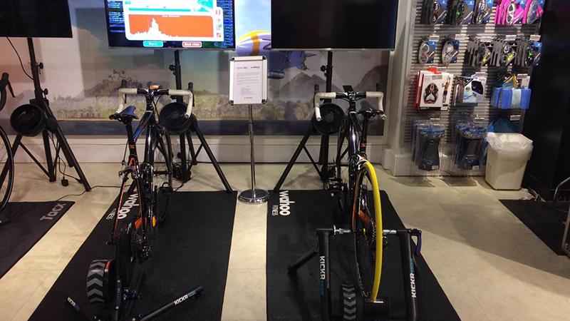 Testevent Wahoo Fitness en Zwift in BMC Concept Store