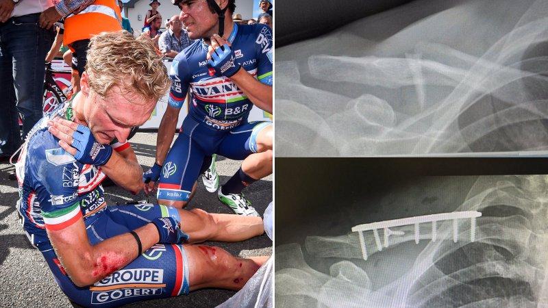 Gevallen Gasparotto al geopereerd (VIDEO)