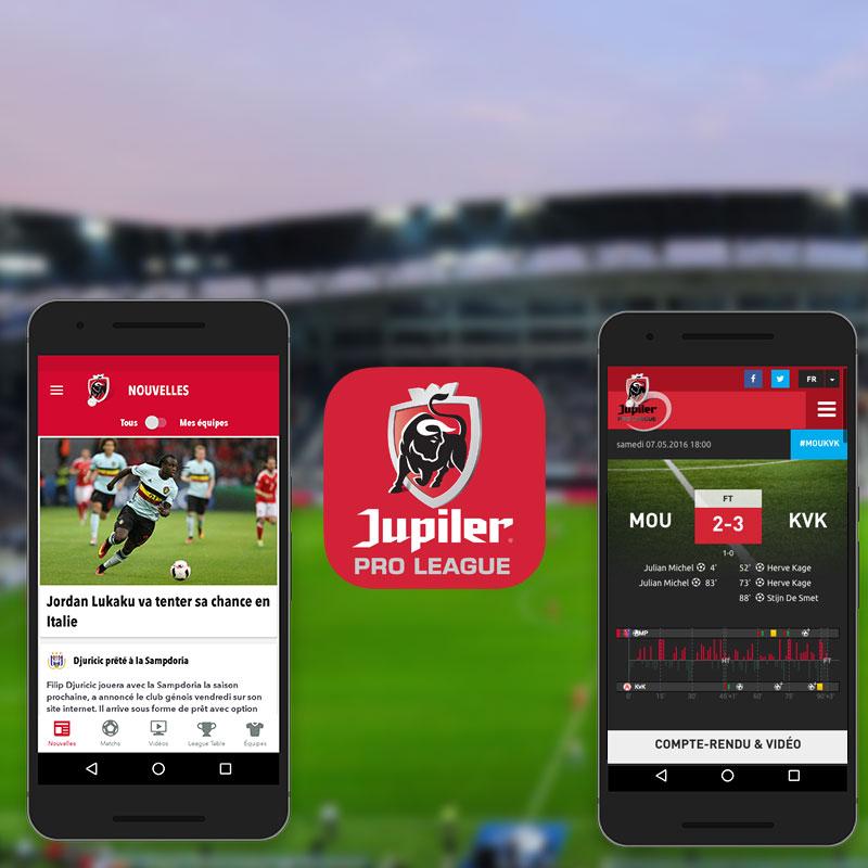 Le site web & l'app Jupiler Pro League entièrement rénovés!