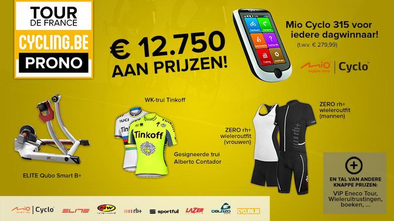 Speel mee met de Cycling.be Tour-pronostiek en win prachtige prijzen!