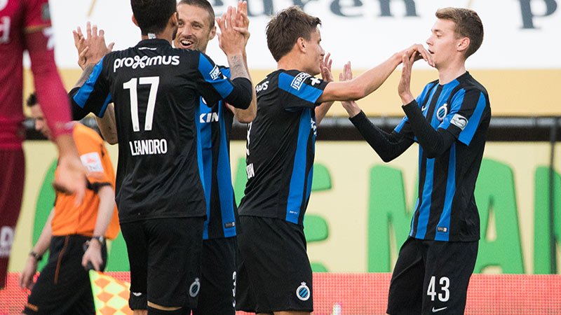 Club Brugge geeft titel extra glans met zege op Zulte Waregem