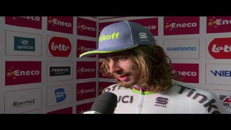 Eneco Tour: Reaction Peter Sagan after time trial