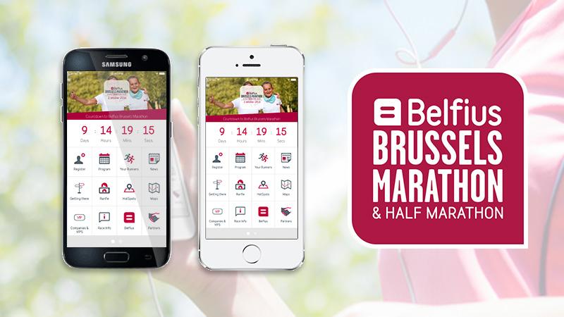 Nieuwe en gratis app Belfius Brussels Marathon