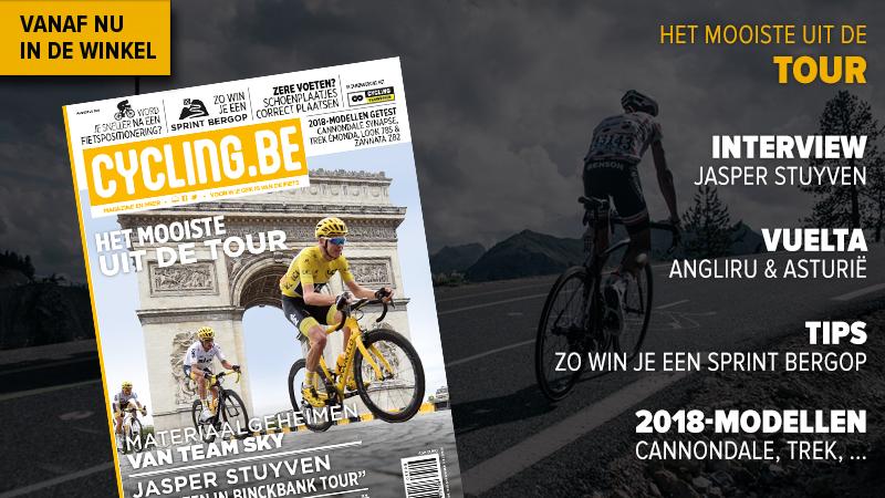 Stuyven, Vuelta en 2018-fietsmodellen in nieuwe cycling.be magazine