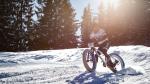 Sneeuwpret op de fiets in Gstaad