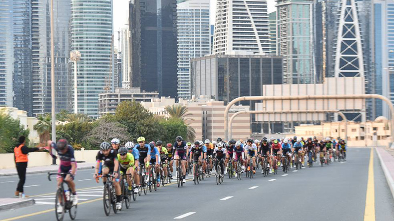 More than 2000 riders hit the Dubai roads