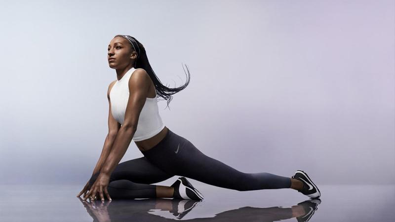 Nafi Thiam stelt nieuwe Tights van Nike voor