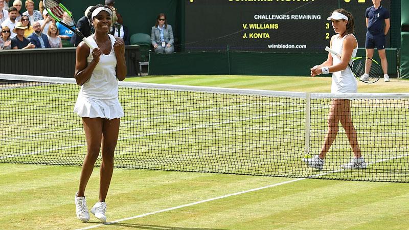 La finale dames opposera Garbine Muguruza à Venus Williams