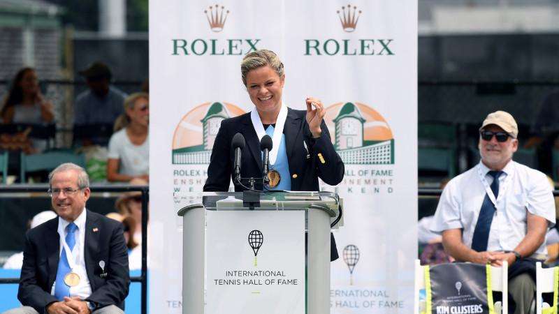 Clijsters officieel opgenomen in Hall of Fame (VIDEO)