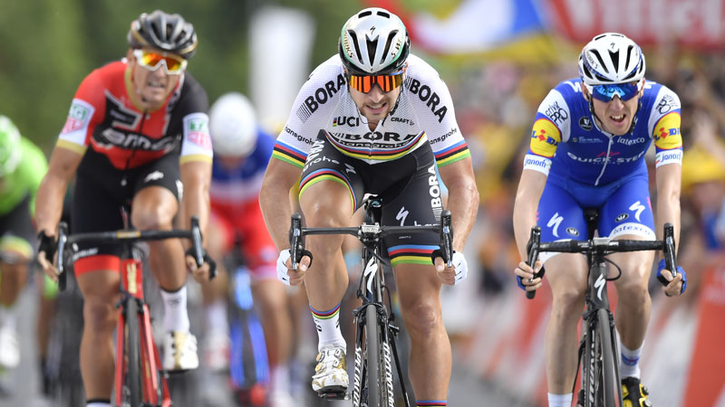 Sagan wint, Van Avermaet vierde op Côte des Religieuses (VIDEO)