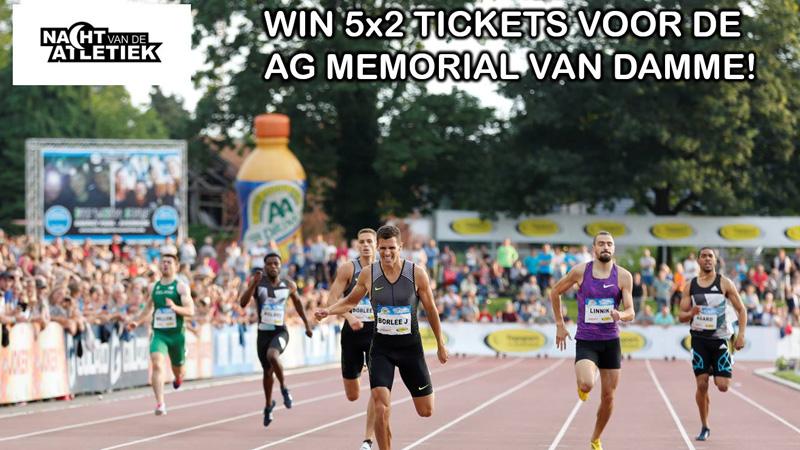 Win 5x2 tickets voor de AG Memorial Van Damme!