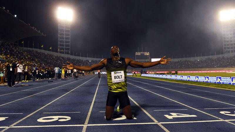 Ontroerde Bolt neemt afscheid van Jamaicaans publiek (VIDEO)