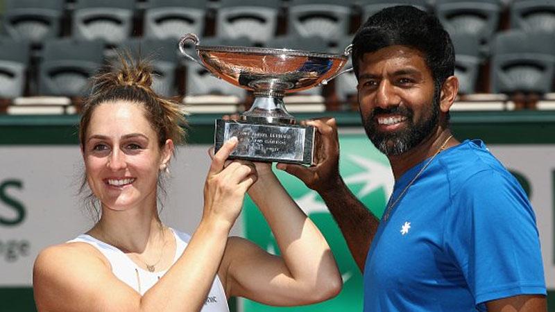 Gabriela Dabrowski et Rohan Bopanna en finale du double mixte — Roland-Garros