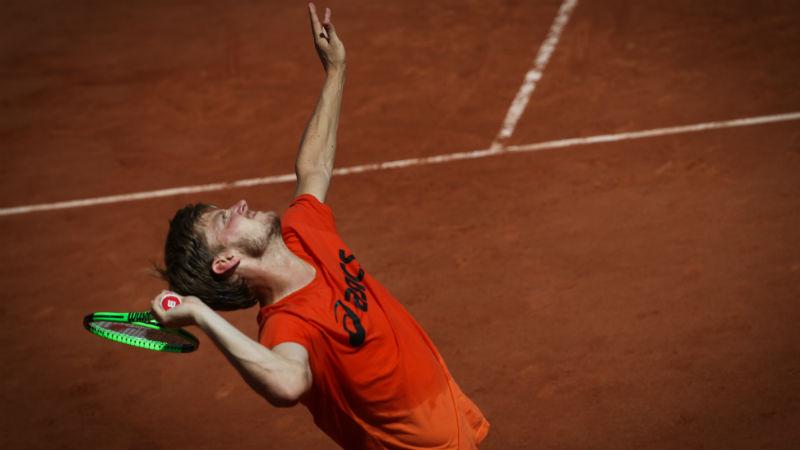Kristina Mladenovic au bout de l'effort — Roland-Garros