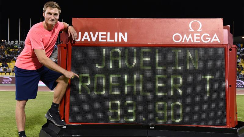 Röhler werpt een Diamond League-record, Thompson sneller dan Schippers (VIDEO)