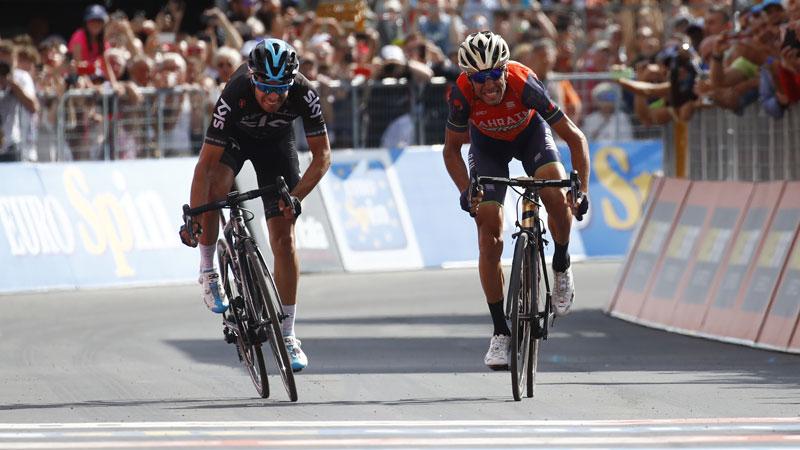 Nibali remporte l'étape-reine, Dumoulin perd du terrain