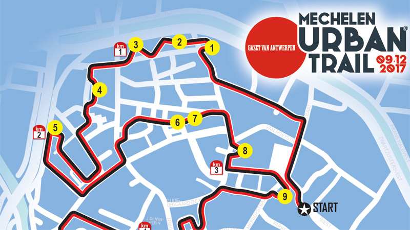 19 sites ouvrent leurs portes lors du Gazet van Antwerpen Urban Trail Mechelen!
