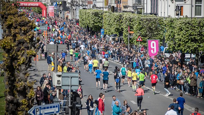 Plan mobilité pour l'AG Antwerp 10 Miles & Marathon