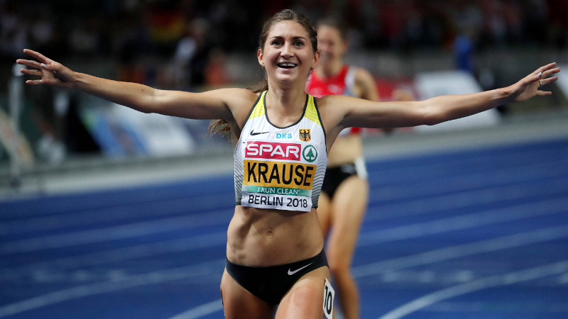Krause successfully defends European steeple title