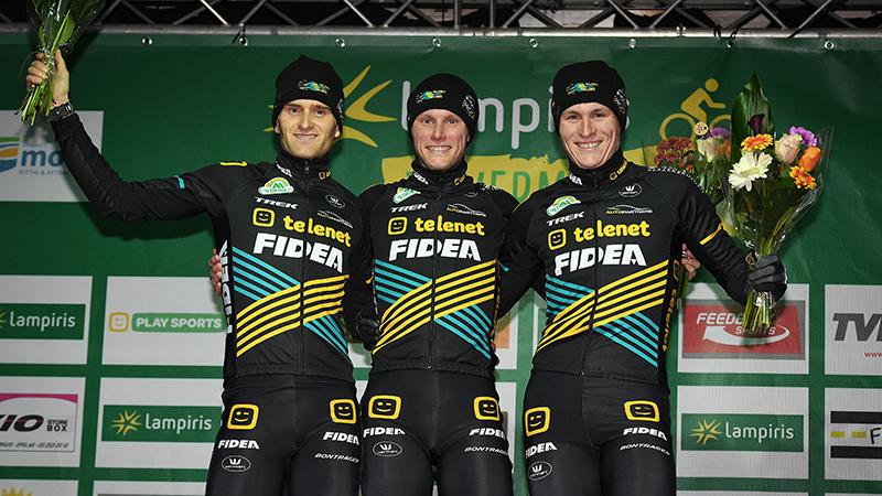 Telenet Fidea Lions veroveren Zilvermeercross, volledig podium!