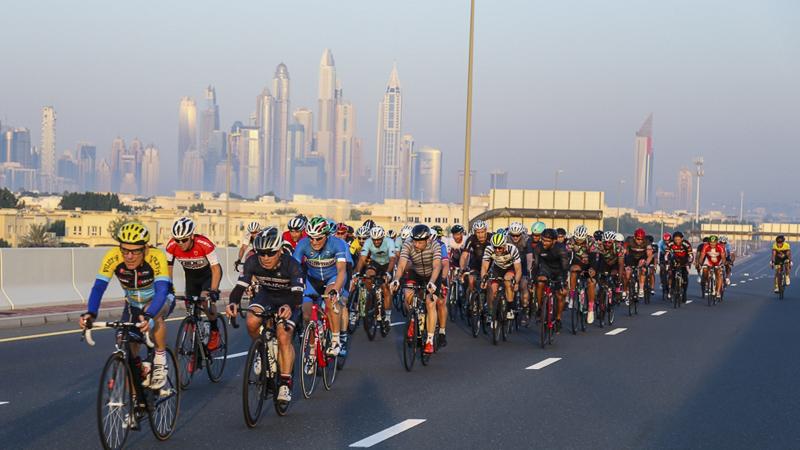 2000 cyclists tackle the Dubai roads in LOOK UCI Gran Fondo