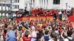Les Diables Rouges accueillis par une énorme liesse populaire!