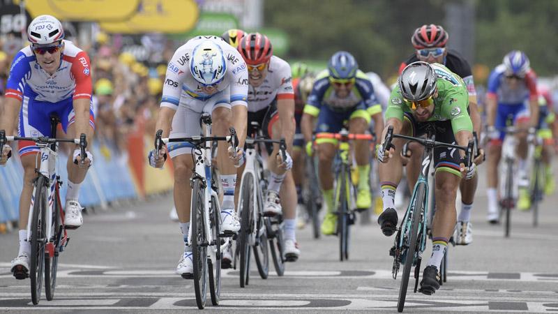 Derde keer raak voor Sagan in de Tour