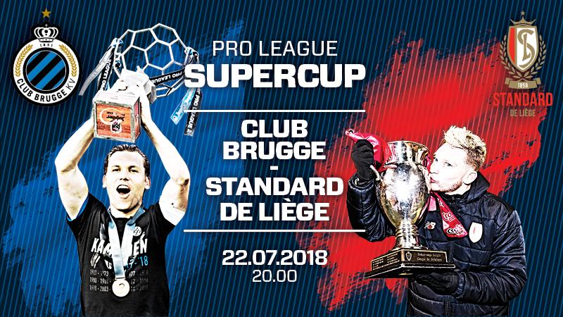 Supercoupe 2018 : FC Bruges - Standard de Liège