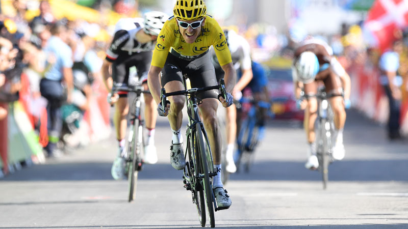 Thomas wint ook op Alpe d'Huez