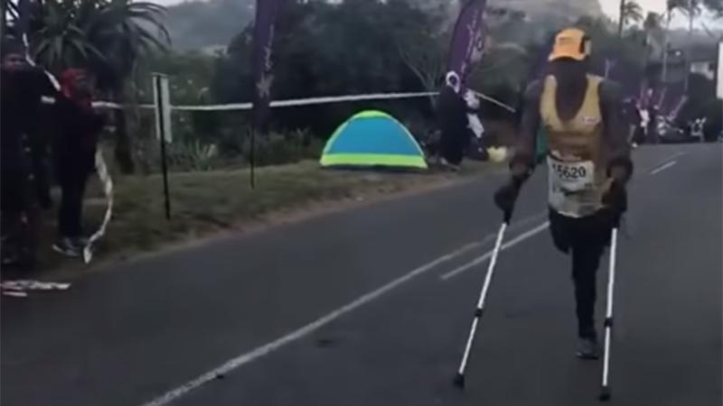 Un homme amputé a fait preuve d'une persévérance incroyable
