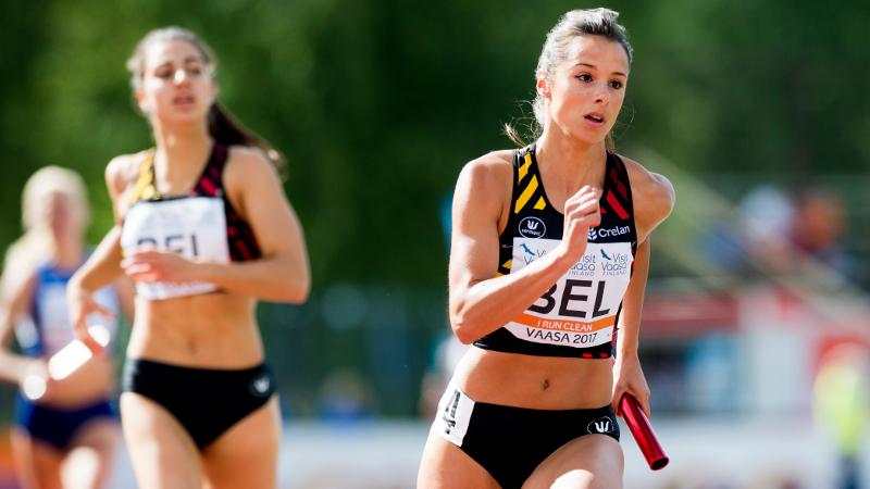Belgische 4x400m-vrouwen slopen BR en mogen naar EK