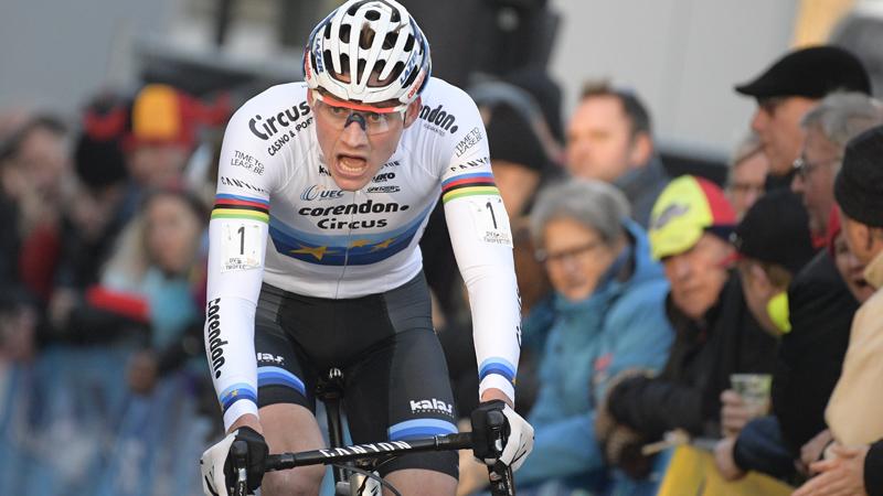 Van der Poel wint met ruime voorsprong in Hamme