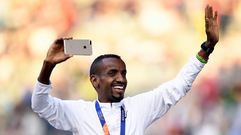 Abdi au départ de la Structabo CrossCup à Roulers