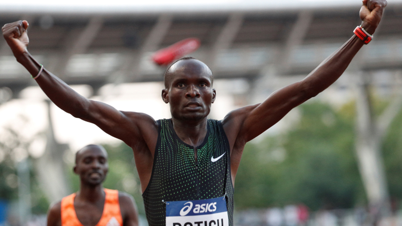 Ferguson Rotich earns podium finishes in Diamond League Brussels 800m final and ISTAF Berlin 1500m
