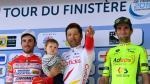 Baptiste Planckaert sur le podium au Tour du Finistère