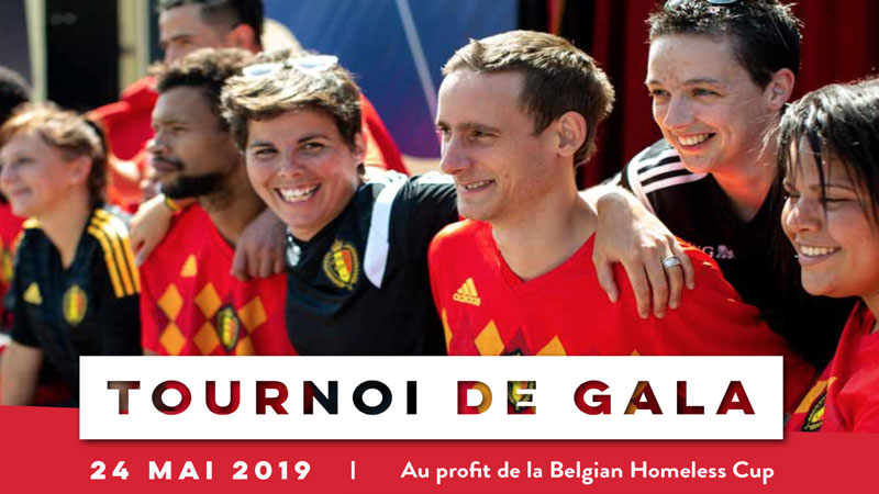 Tournoi de Gala Belgian Homeless Cup au Belgian Football Center 24/05