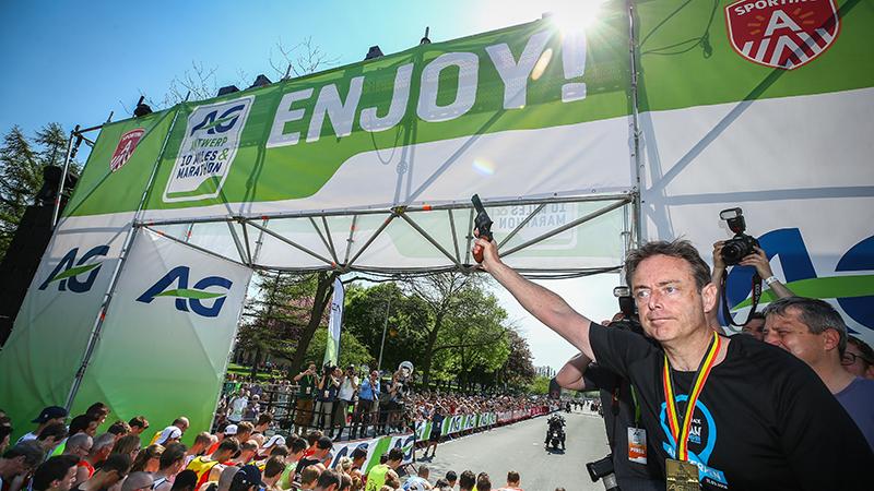 Bart De Wever onthult datum en invulling van AG Antwerp Marathon van 2020