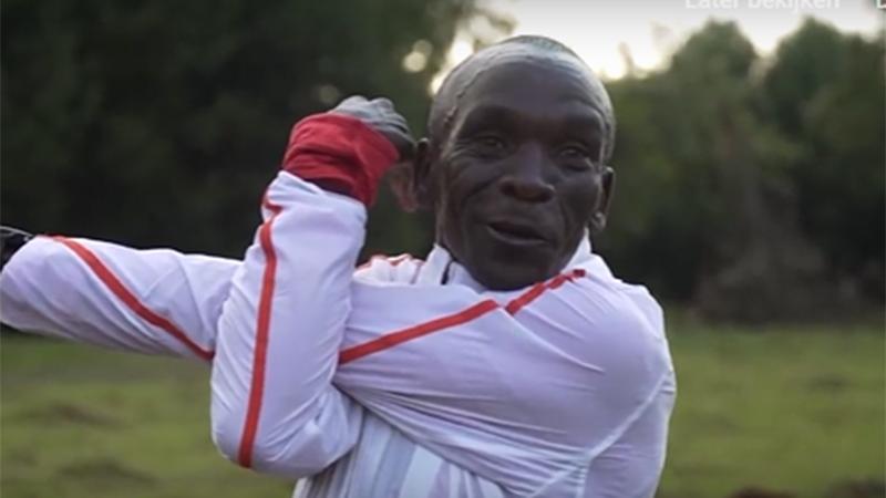 Video: zo bereidt Kipchoge zich voor op de marathon van Londen