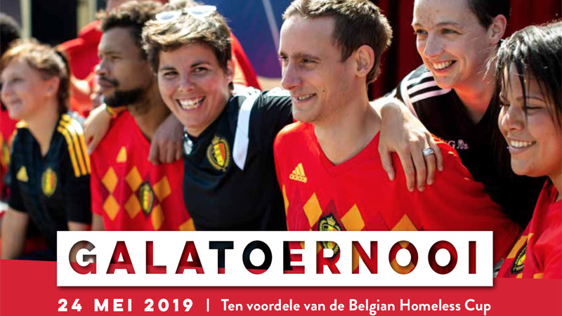 Galatoernooi Belgian Homeless Cup op Belgian Football Center
